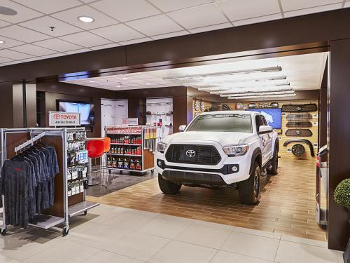 Beaver Toyota Interior shop and parts dept
