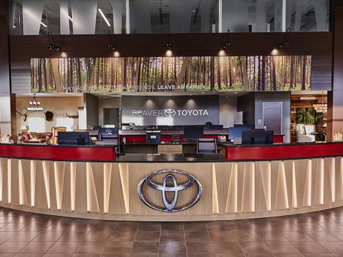 Beaver Toyota Interior Welcome Desk