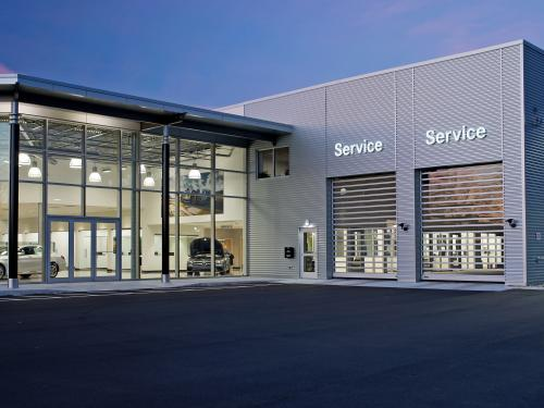 Mercedes Benz of Springfield exterior with service drive