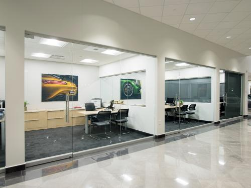 Mercedes Benz of Springfield interior wall offices