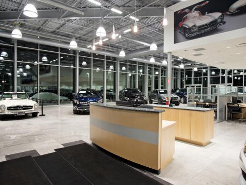 Mercedes Benz of Springfield interior reception welcome desk