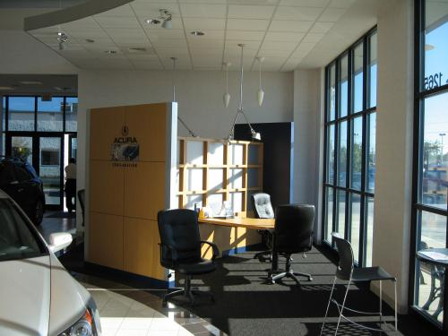 Hubler Acura Interior showroom and negotiations table