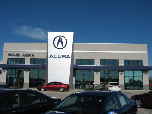 Hubler Acura exterior front on entry element
