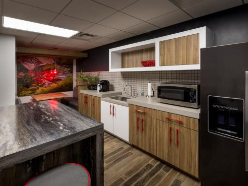 Regal Nissan Interior Company Kitchen employee lounge
