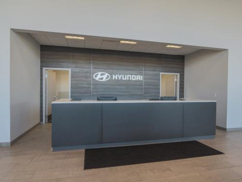 Wilkins Hyundai Interior Welcome desk OEM brand entrance