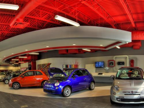 Orlando Fiat interior showroom 1