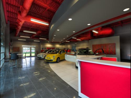 Orlando Fiat interior showroom desk
