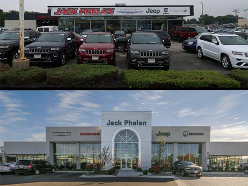 Jack Phelan CDJR Exterior before and after