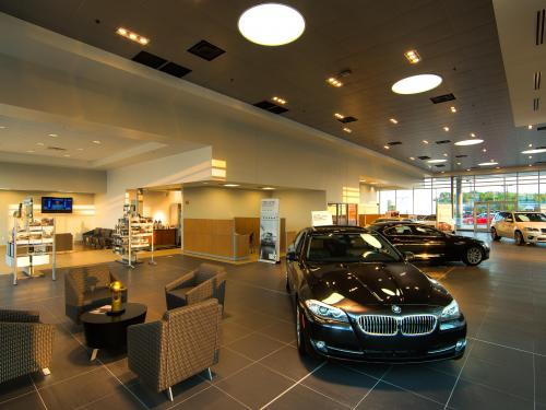 Ben Leman BMW Interior showroom