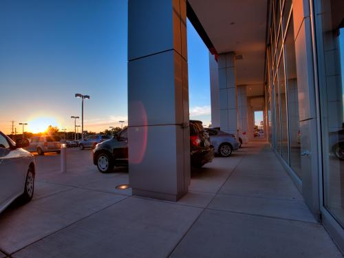 Arlington Toyota outside pillars