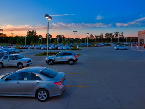 Arlington Toyota parking lot view