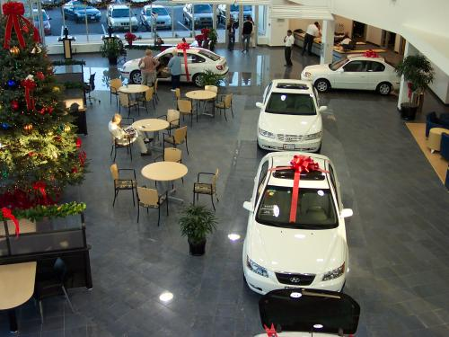 O'Brien Hyundai showroom above
