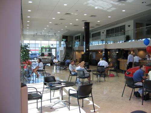 Beck Toyota  waiting area