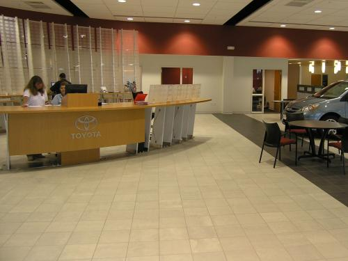 O'Brien Toyota Welcome desk front