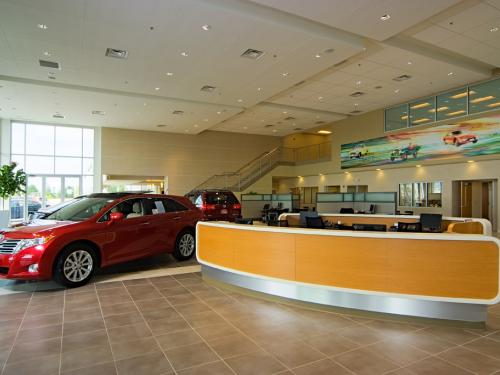 Naperville Toyota Welcome desk