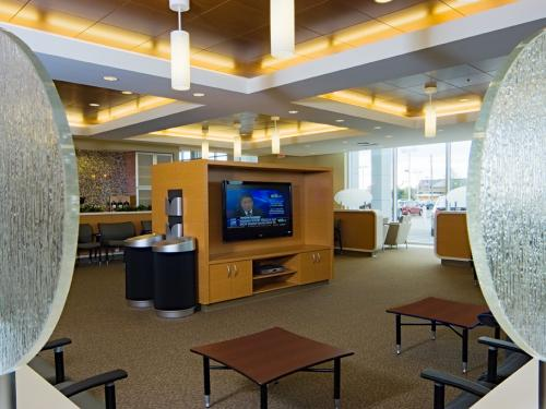 Naperville Toyota waiting area