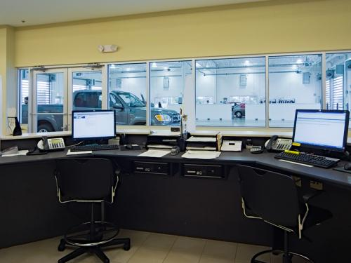 Naperville Toyota paiting booth and controls