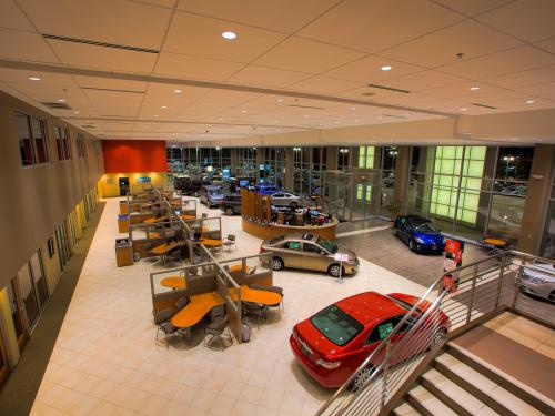 Arlington Toyota overlook showroom