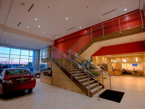 Arlington Toyota grand staircase
