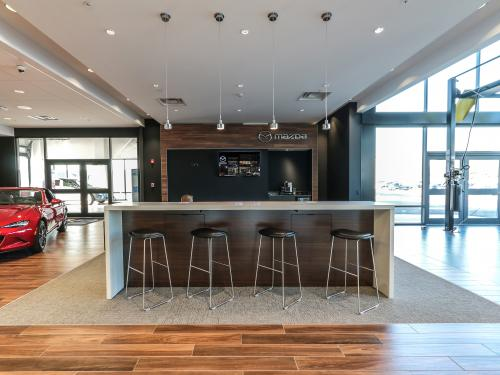 Wilkins Mazda interior showroom waiting bar