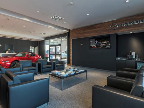 Wilkins Mazda interior showroom Customer Lounge