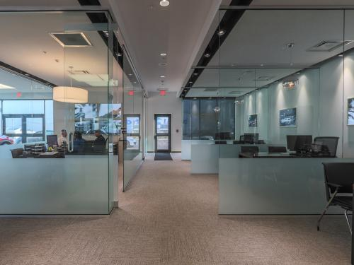 Wilkins Mazda interior Offices front on