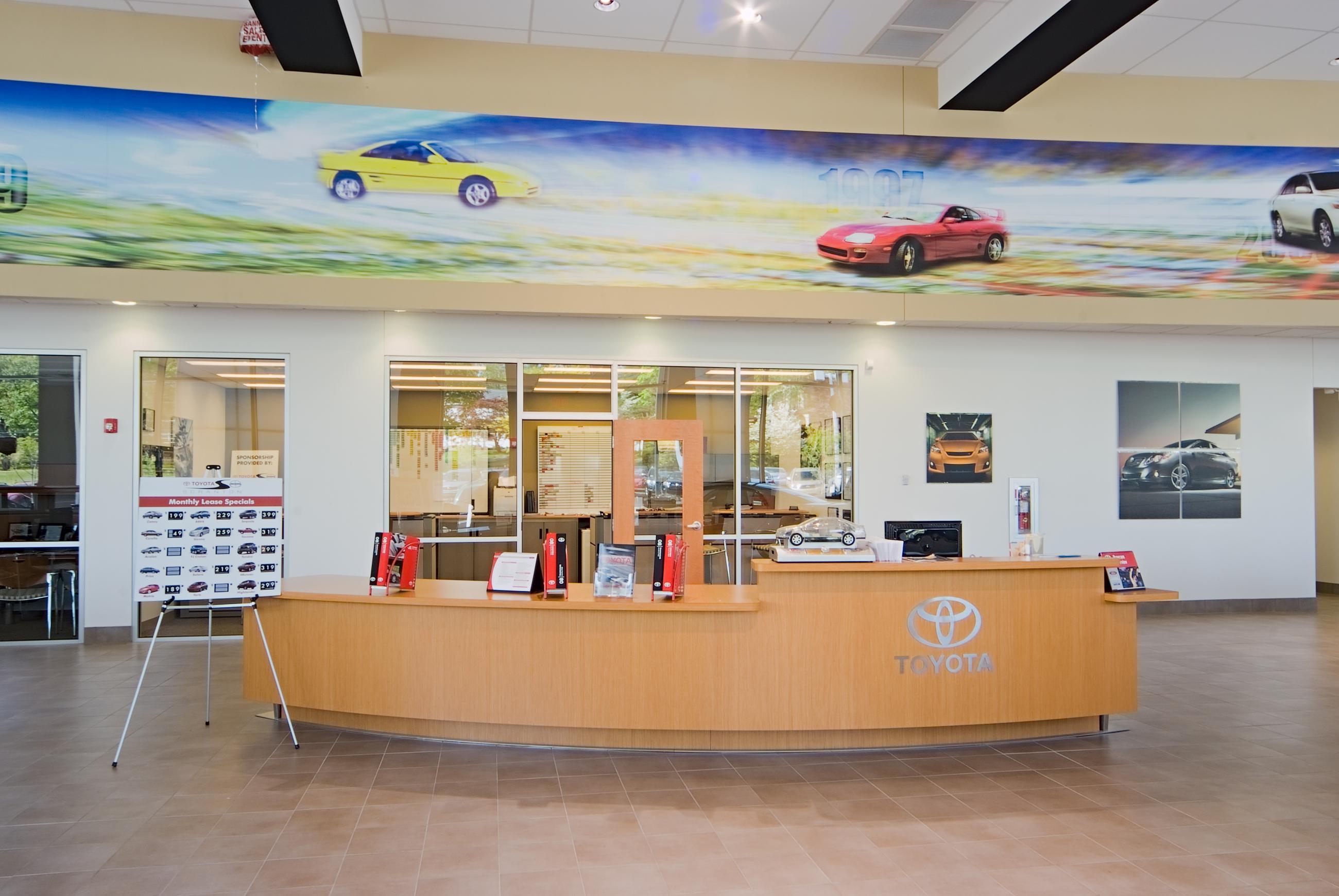 Scranton Toyota Scion Welcome Desk